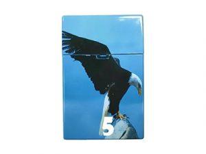 3115-D12 Plastic Cigarette Case, Eagle Design