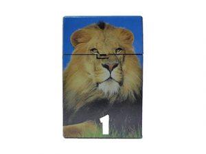 3117-D16 Plastic Cigarette Case, Lion Designs