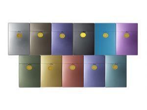 3117-MET Plastic Cigarette Case, Metallic Designs