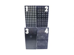 3117-M32 Plastic Cigarette Case, Black and White