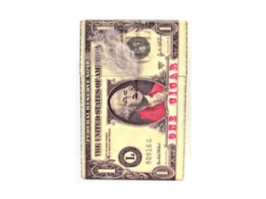 3117-MON Plastic Cigarette Case, Cash Money