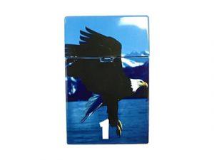 3114-D12 Plastic Cigarette Case, Eagle Design