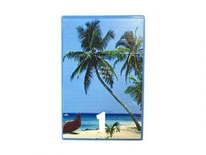 3114-D13 Plastic Cigarette Case, Beach Palms