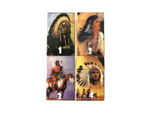 3114-IN Plastic Cigarette Case, American Indian