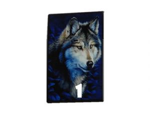 3116-D17-2 Plastic Cigarette Case, Wolf Design