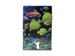 3116-D18 Plastic Cigarette Case, Ocean Design