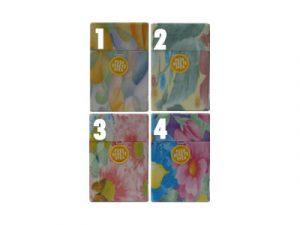 3116-F1 Plastic Cigarette Case, Flower Designs