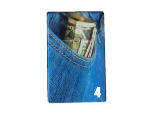 3116-JEANS Plastic Cigarette Case, Denim Jeans