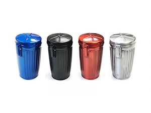 ASH4M Small Metal Trash Can Design Ashtray