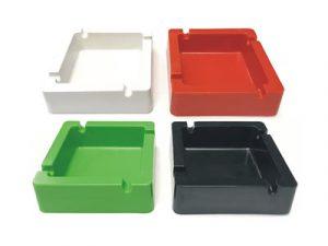 ASH7 4″ Plastic Ashtray W/ Square bowl