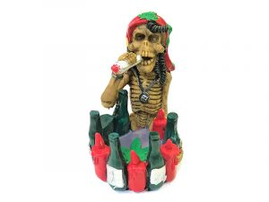 ASH704 Pirate Skull Beer Hand Painted