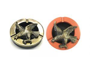 ASH920 Rotating Eagle Metal Ashtray