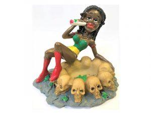 ASH2022 Jamaican Girl Skulls Hand Painted